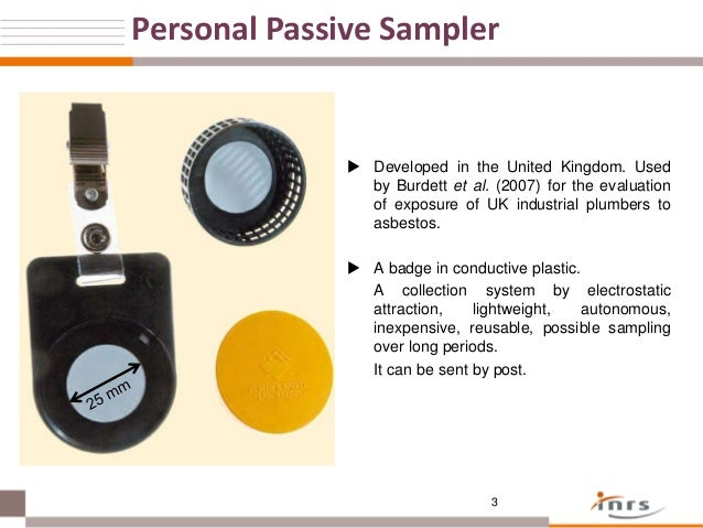Use Of A Passive Badge For Sampling Asbestos Among Building Finishing