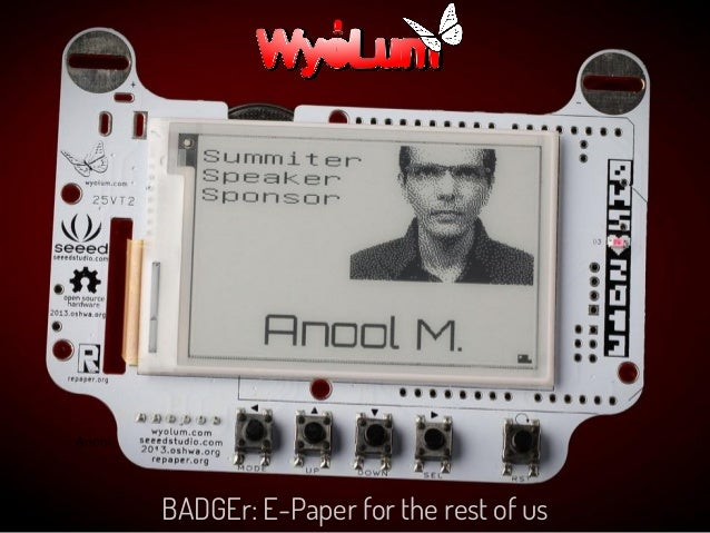 BADGEr: E-Paper for the rest of us Anool