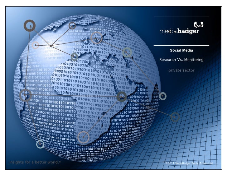 Social Media                                Research Vs. Monitoring                                     private sectorinsi...