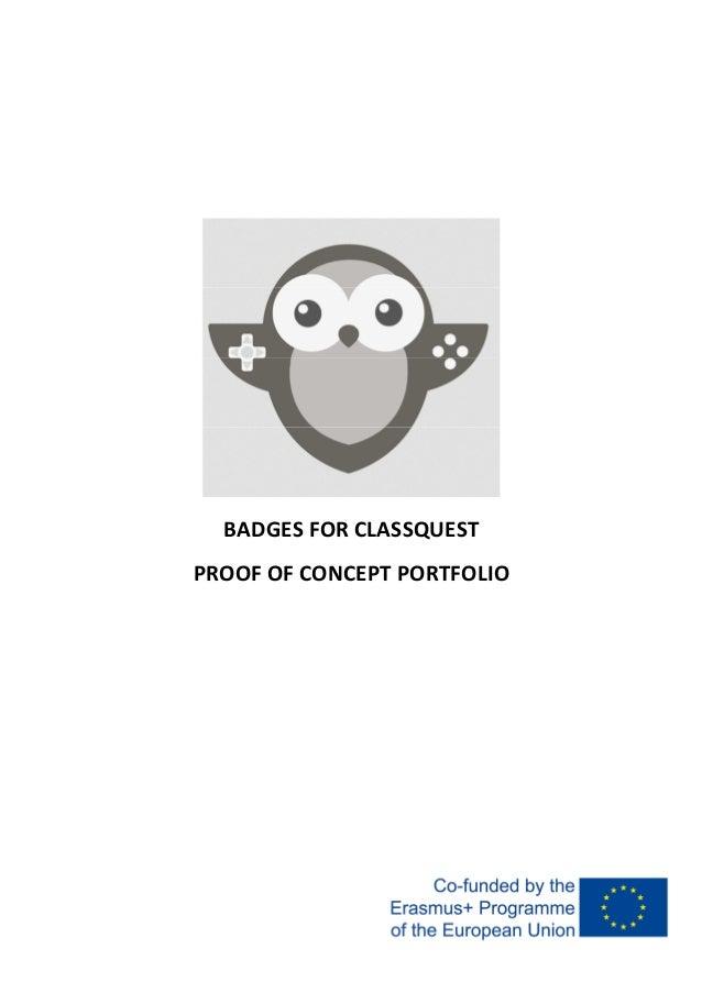 BADGES FOR CLASSQUEST PROOF OF CONCEPT PORTFOLIO