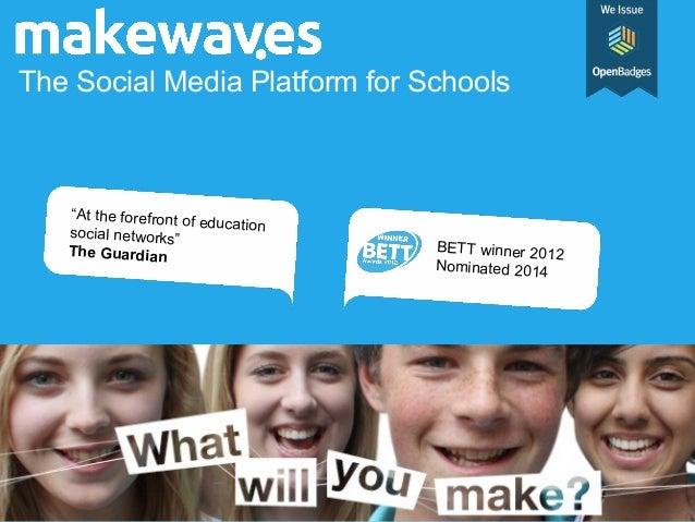 "The Social Media Platform for Schools  ""At the forefront o f education social networks"" The Guardian  BETT winner 2012 Nom..."