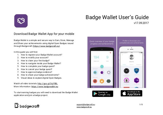 Download Badge Wallet App for your mobile  Badge Wallet is a simple and secure way to ...