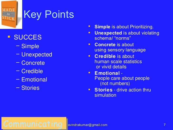 Key Points                                Simple is about Prioritizing.                                Unexpected is abo...