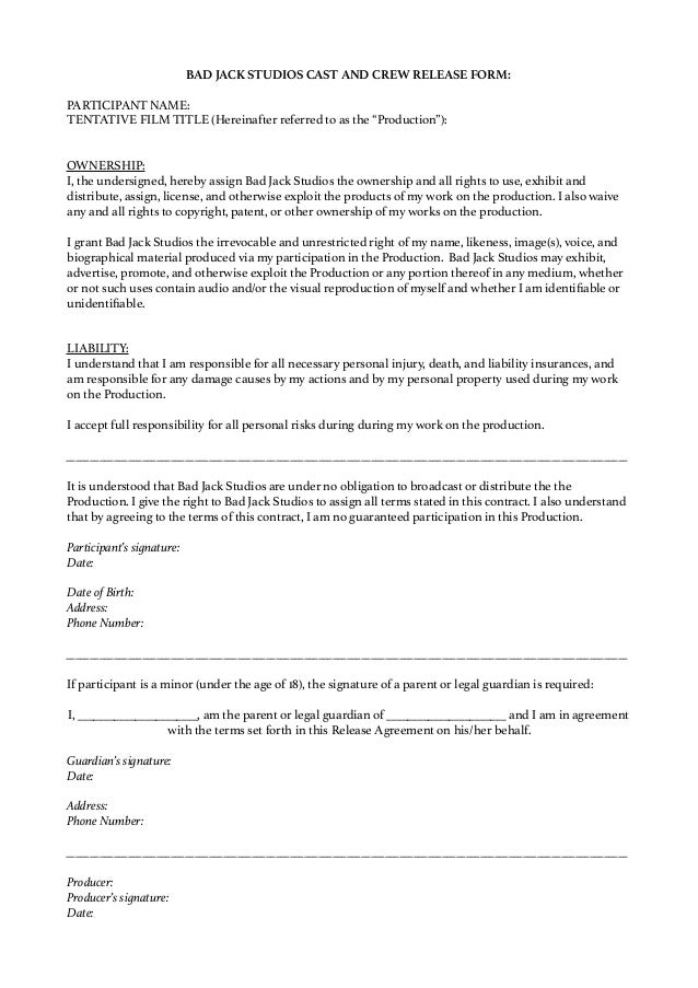 Parental Release Form. Medical Release Form 09 30+ Medical Release ...