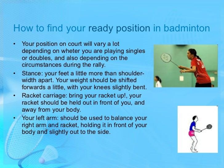 Badminton Badminton Players Position