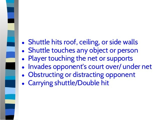 Badminton individual activities course notes for Badminton court ceiling height