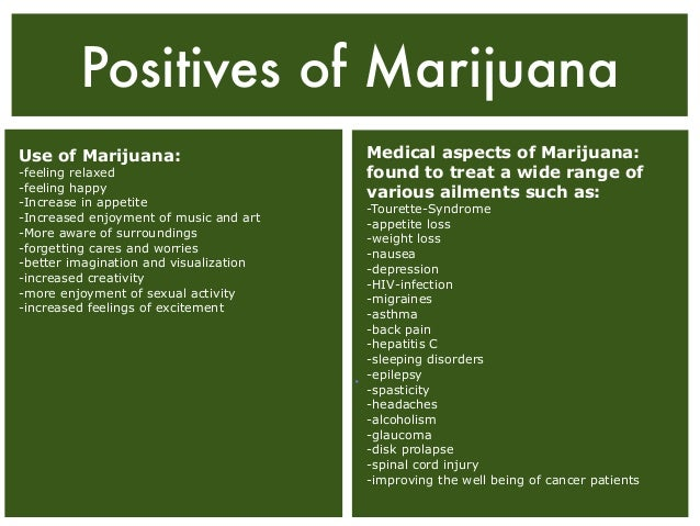 Characteristics of marijuana and the effects of using it
