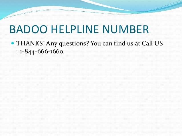 What is badoo phone number
