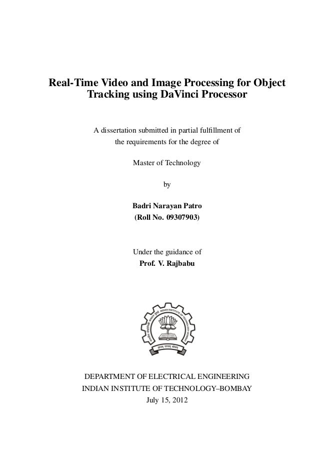 Object tracking phd thesis