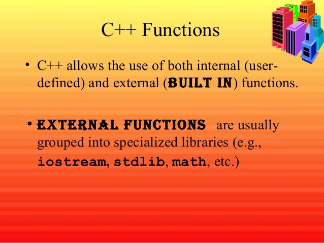 FUNCTIONS IN c++ PPT