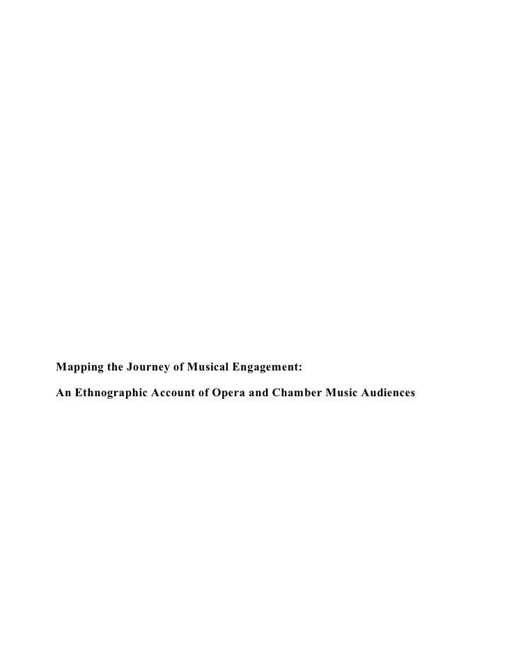 Mapping the Journey of Musical Engagement:  An Ethnographic Account of Opera and Chamber Music Audiences