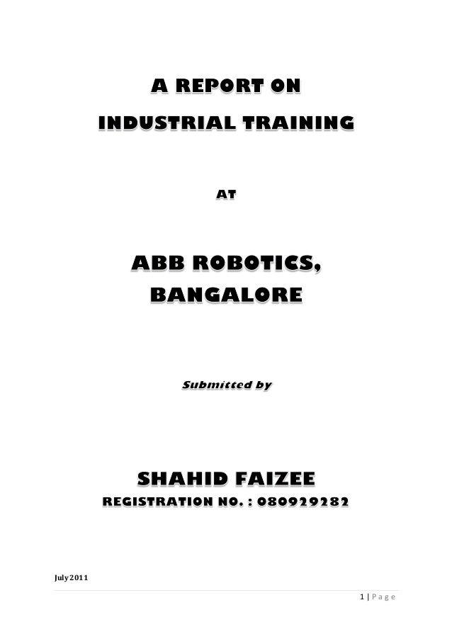 ABB training report
