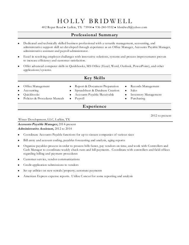 holly s resume favorite