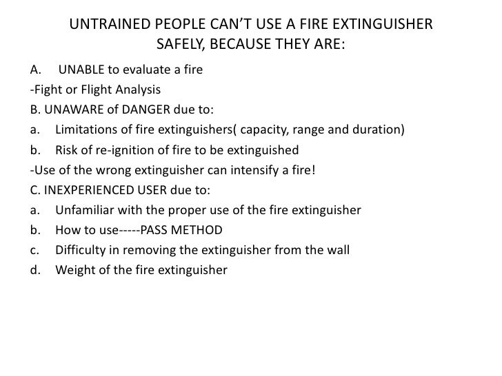 Bae Systems Fire Extinguisher Orientation Class As Of 9 2 2011