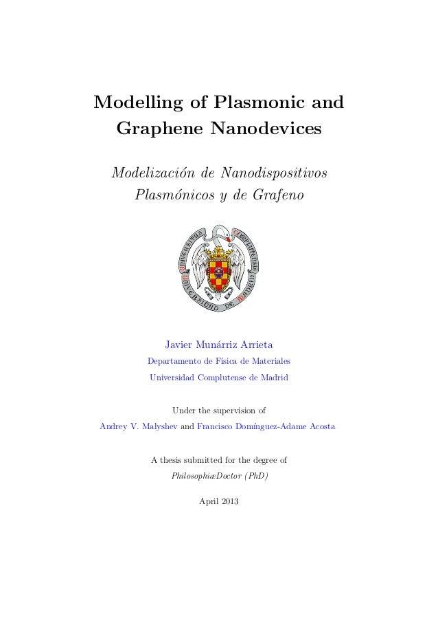 Graphene ph d thesis