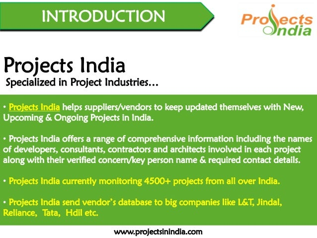 Projects India - Presentation
