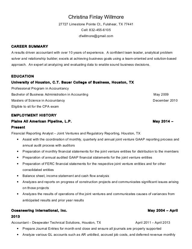 christina willmore resume