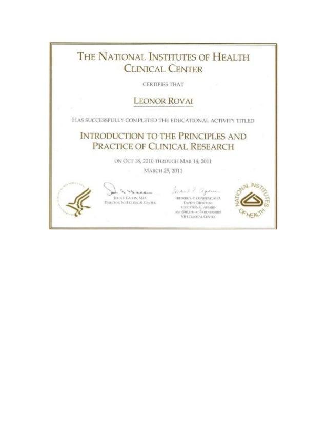 Nih Certificate
