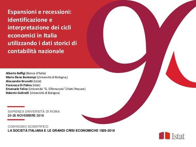 Espansioni e recessioni: identificazione e interpretazione dei cicli economici in Italia utilizzando i dati storici di con...