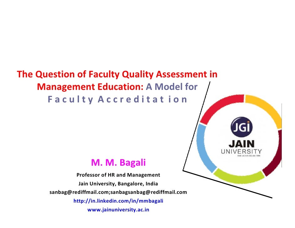 The Question of Faculty Quality Assessment in    Management Education: A Model for      Faculty Accreditat ion            ...
