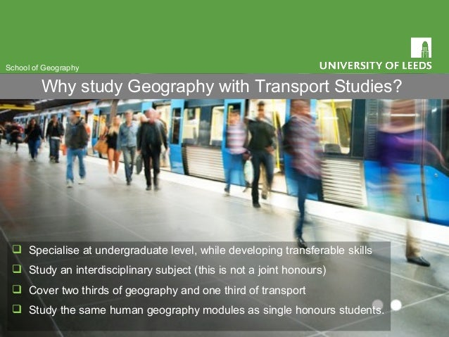  Specialise at undergraduate level, while developing transferable skills  Study an interdisciplinary subject (this is no...