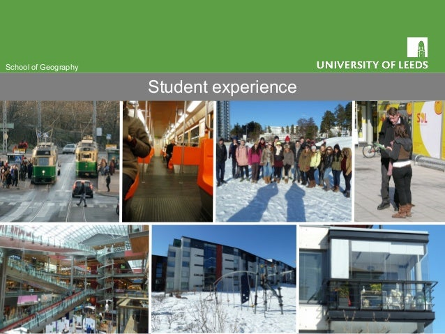 School of Geography Student experience