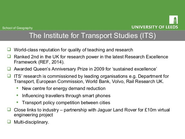  World-class reputation for quality of teaching and research  Ranked 2nd in the UK for research power in the latest Rese...