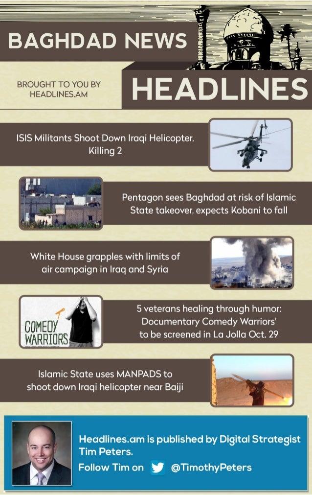BAGHDAD NEWS - OCTOBER 9, 2014