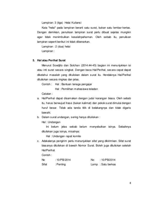 Bagian Dan Fungsi Surat