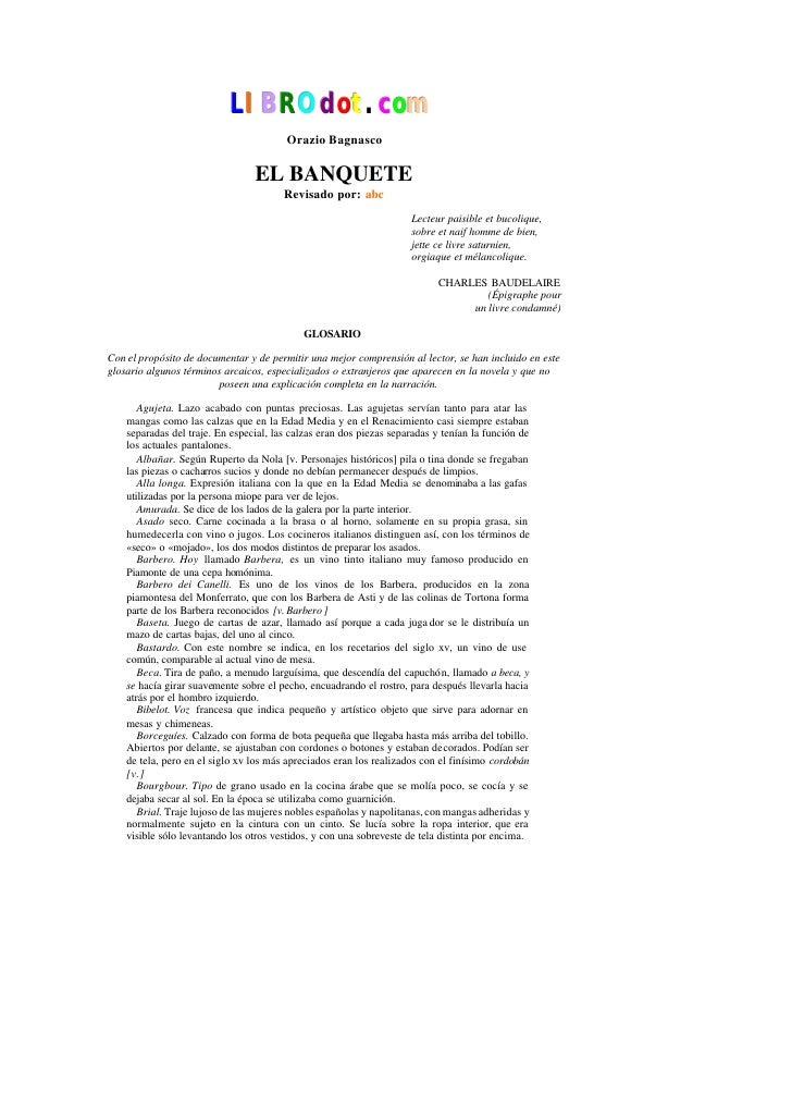 LIBROd ot.com                                         Orazio Bagnasco                                   EL BANQUETE       ...