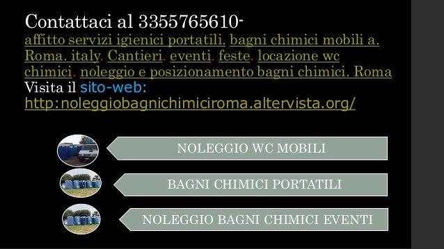 Noleggio bagni chimici autospurgo spurgo fognature - Noleggio bagni chimici roma ...