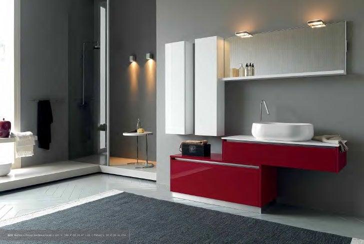 Bagno bianco e rosso ~ idee creative su interni e mobili