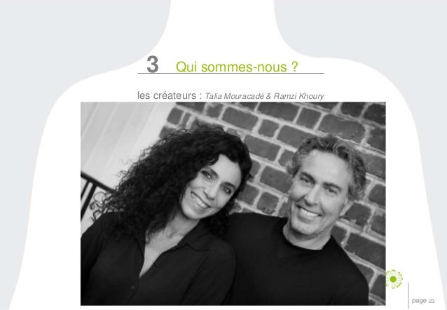 23  3 Qui sommes-nous ?  les créateurs : Talia Mouracadé & Ramzi Khoury
