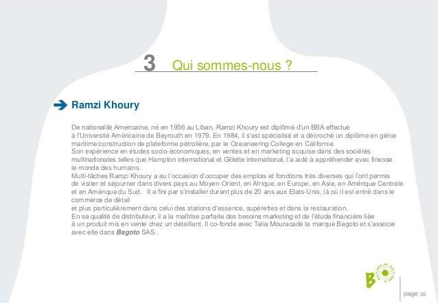 25  Ramzi Khoury  3 Qui sommes-nous ?  De nationalité Americaine, né en 1956 au Liban, Ramzi Khoury est diplômé d'un BBA e...