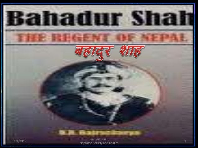 5/31/2015 1 Ramesh Pant Nepalase Society and Politics