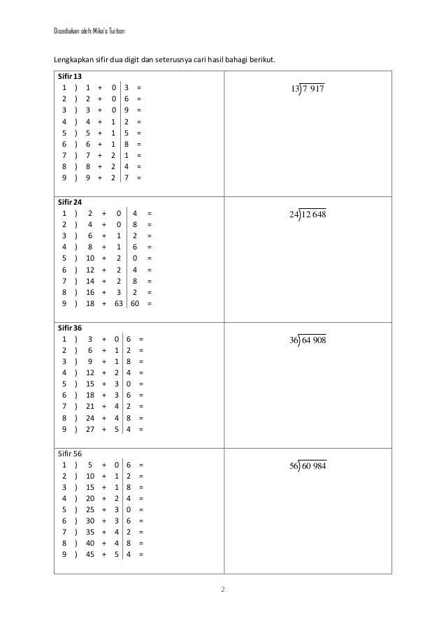 Matematik Tahun 4 Bahagi