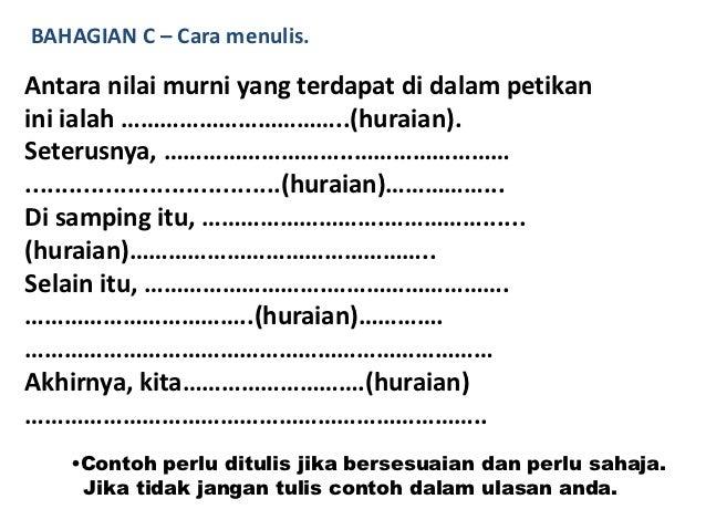 Contoh Soalan Karangan Bahasa Melayu Pt3 - Soalan bj