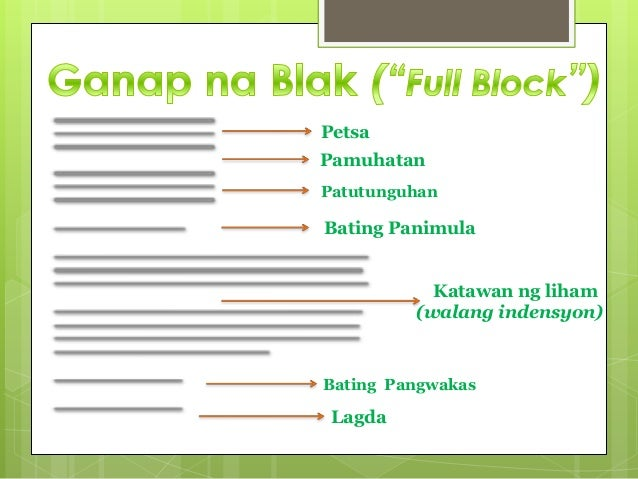 Filipino ~ Liham Pangangalakal