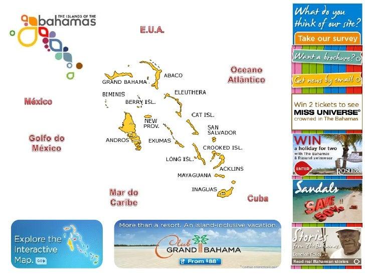 E.U.A.<br />Oceano Atlântico<br />México<br />Golfo do México<br />Mar do Caribe<br />Cuba<br />
