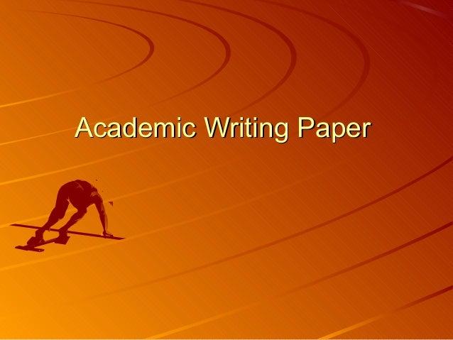 Academic Writing Paper