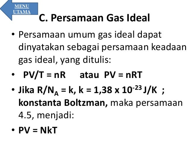 Persamaan Umum Gas Ideal Fisika