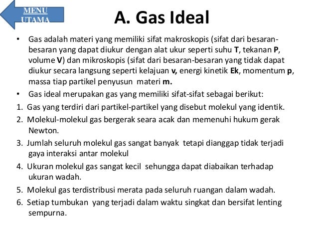 Gas Ideal Sifat