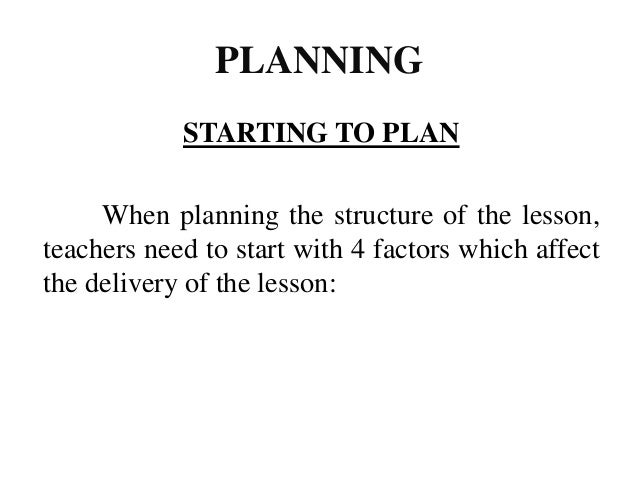 A good lesson plan that uses a 3-part structures will include 1. Clear learning objectives and outcomes 2. A structure bas...