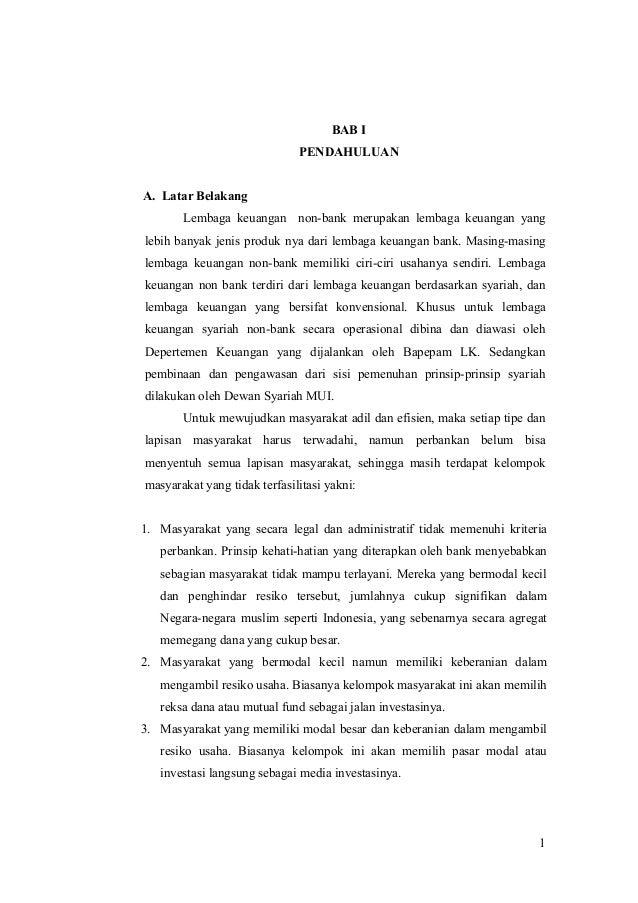 Laporan Magang Praktikum Di Lembaga Keuangan Syariah