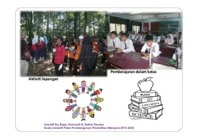 Aktiviti lapangan Pembelajaran dalam kelas Inisiatif Ibu Bapa, Komuniti & Sektor Swasta Suatu Inisiatif Pelan Pembangunan ...