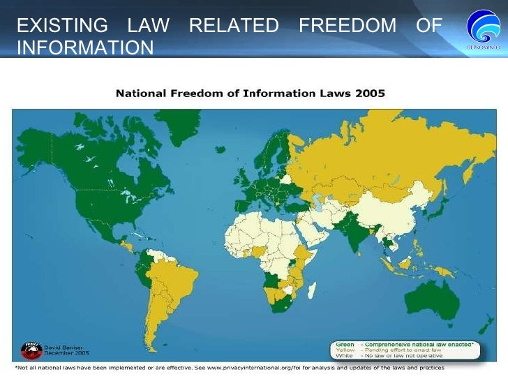 EXISTING LAW RELATED FREEDOM OF INFORMATION