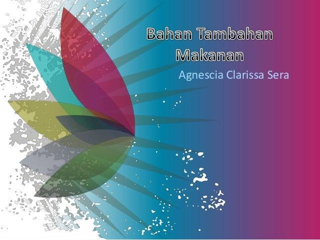 Agnescia Clarissa Sera