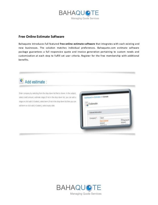 Bahaquote Online Invoicing Software - Quote invoice software