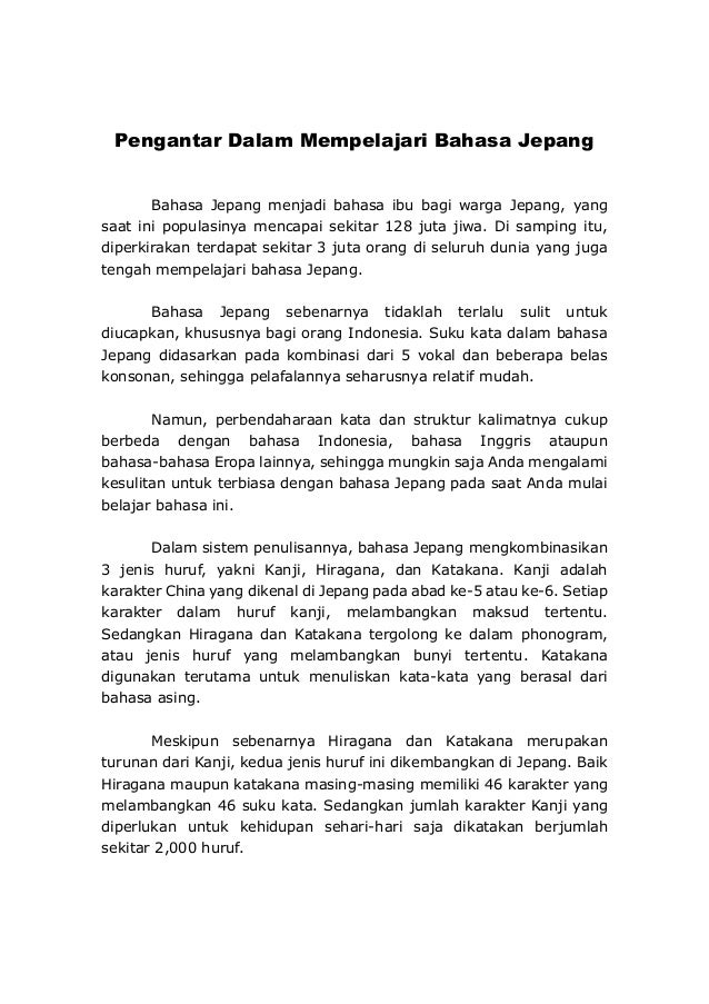 Bahasa Jepang Nihongo Indonesia Gramer And Conversation