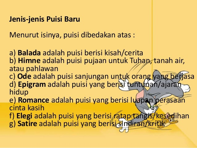 Puisi Lama Dan Puisi Baru Bahasa Indonesia